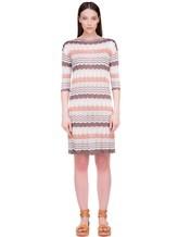 Платье Re Vera 18001004 100% шёлк Бело-коричневый Италия изображение 1