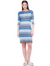 Платье Re Vera 18001004 100% шёлк Васильковый Италия изображение 0