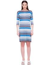 Платье Re Vera 18001004 100% шёлк Васильковый Италия изображение 1