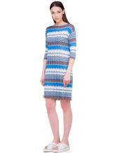 Платье Re Vera 18001004 100% шёлк Васильковый Италия изображение 2