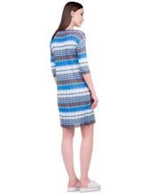 Платье Re Vera 18001004 100% шёлк Васильковый Италия изображение 3
