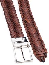 Ремень Santoni CM35V1530 100% кожа Сине-коричневый Италия изображение 1