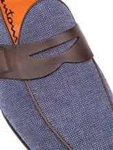 Мокасины Santoni MCNC16033 100% кожа Сине-коричневый Италия изображение 5