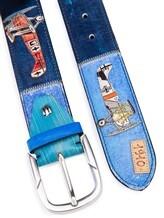 Ремень Stefano Corsini AEREI 100% кожа Сине-голубой Италия изображение 1