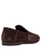 Мокасины Santoni MCNC16048 100% кожа Темно-коричневый Италия изображение 3
