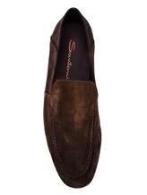 Мокасины Santoni MCNC16048 100% кожа Темно-коричневый Италия изображение 4