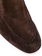 Мокасины Santoni MCNC16048 100% кожа Темно-коричневый Италия изображение 5
