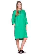 Платье Agnona R2000Y 99% лён, 1% полиамид Зеленый Италия изображение 0