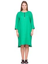 Платье Agnona R2000Y 99% лён, 1% полиамид Зеленый Италия изображение 1
