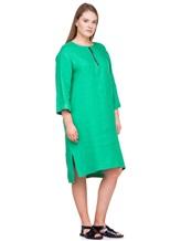 Платье Agnona R2000Y 99% лён, 1% полиамид Зеленый Италия изображение 2