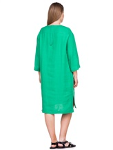 Платье Agnona R2000Y 99% лён, 1% полиамид Зеленый Италия изображение 3