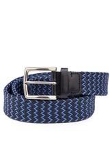 Ремень Stefano Corsini TD/137 95% хлопок, 5% кожа Сине-голубой Италия изображение 0