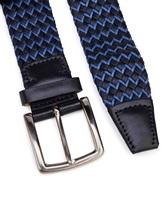 Ремень Stefano Corsini TD/137 95% хлопок, 5% кожа Сине-голубой Италия изображение 1