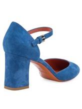 Туфли Santoni WDHZ57115 100% кожа Голубой Италия изображение 3