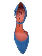 Туфли Santoni WDHZ57115 100% кожа Голубой Италия изображение 4