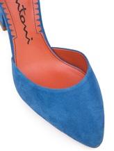 Туфли Santoni WDHZ57115 100% кожа Голубой Италия изображение 5