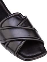 Шлепанцы Attilio Giusti Leombruni D641002 100% кожа Черный Италия изображение 5