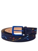 Ремень Stefano Corsini SPLASH 100% кожа Темно-синий Италия изображение 0