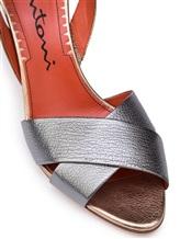 Босоножки Santoni WHGS57083 100% кожа Серо-бежевый Италия изображение 5