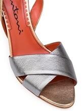 Босоножки Santoni WHGS57083 100% кожа Серо-бежевый Италия изображение 11