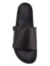 Шлепанцы Santoni MCRX15593 100% кожа Черный Италия изображение 4