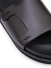 Шлепанцы Santoni MCRX15593 100% кожа Черный Италия изображение 5
