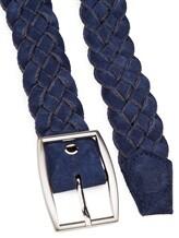 Ремень Colombo CT00065 55% хлопок, 45% кожа Синий Италия изображение 1