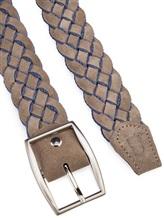 Ремень Colombo CT00065 55% хлопок, 45% кожа Бежево-голубой Италия изображение 1