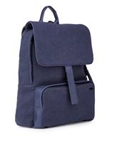 Рюкзак ZANELLATO 36172 100% лён Фиолетово-синий Италия изображение 3