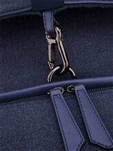 Рюкзак ZANELLATO 36172 100% лён Фиолетово-синий Италия изображение 7