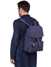 Рюкзак ZANELLATO 36172 100% лён Фиолетово-синий Италия изображение 1