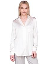 Блузка Lorena Hayot by Lorena Antoniazzi LH00CA1 96% шёлк 4% эластан Натуральный Италия изображение 0