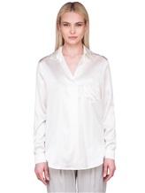 Блузка Lorena Hayot by Lorena Antoniazzi LH00CA1 96% шёлк 4% эластан Натуральный Италия изображение 2
