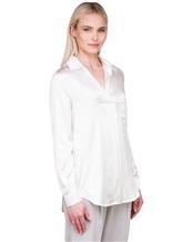 Блузка Lorena Hayot by Lorena Antoniazzi LH00CA1 96% шёлк 4% эластан Натуральный Италия изображение 3