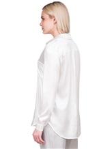 Блузка Lorena Hayot by Lorena Antoniazzi LH00CA1 96% шёлк 4% эластан Натуральный Италия изображение 4