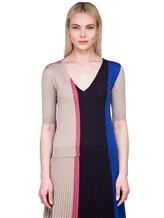 Пуловер Agnona A0901 40% шерсть, 30% кашемир, 30% шёлк Сине-бежевый Италия изображение 2