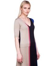 Пуловер Agnona A0901 40% шерсть, 30% кашемир, 30% шёлк Сине-бежевый Италия изображение 3