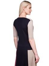 Пуловер Agnona A0901 40% шерсть, 30% кашемир, 30% шёлк Сине-бежевый Италия изображение 4