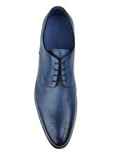 Ботинки Santoni MCWI13741 100% кожа Темно-синий Италия изображение 4