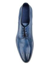Ботинки Santoni MCWI13741 100% кожа Темно-синий Италия изображение 10