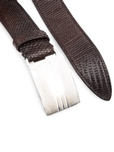 Ремень Brunello Cucinelli 251 100% кожа Темно-коричневый Италия изображение 1