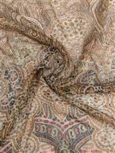 Платок Faliero Sarti 1012 70% хлопок, 30% шёлк Коричнево-бежевый Италия изображение 1