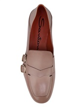Туфли Santoni WUDM57807 100% кожа теленка Бежевый Италия изображение 4