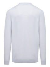 Поло Pashmere SU97067 50% хлопок, 50% шёлк Светло-серый Италия изображение 1