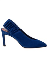 Туфли Santoni WDNT57837 100% кожа теленка Синий Италия изображение 2