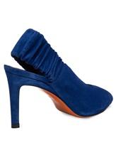 Туфли Santoni WDNT57837 100% кожа теленка Синий Италия изображение 3