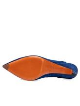 Туфли Santoni WDNT57837 100% кожа теленка Синий Италия изображение 6
