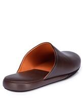 Тапки Santoni PMXXA1644 100% кожа теленка Темно-коричневый Италия изображение 3