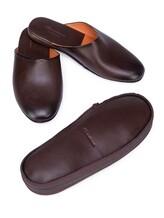 Тапки Santoni PMXXA1644 100% кожа теленка Темно-коричневый Италия изображение 6