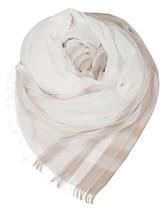 Палантин (текстиль) Agnona AS505Y 100%хлопок Бежевый Италия изображение 0